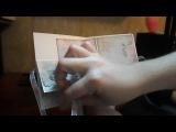 Музыкальная открытка ручной работы Алеси Дугановой (со встроенным звукрвым модулем)