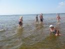 На пляже в Дюнах.Тренировка плавцов - старшая группа.5.08. 2014 г.