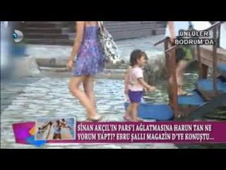 Tuba Büyüküstün ve ikiz kızları Bodrum'da (Magazin D)